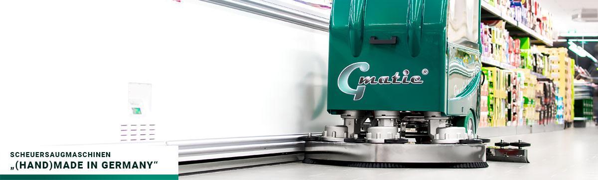 """Gmatic Scheuersaugmaschine - """"(Hand)Made in Germany"""""""