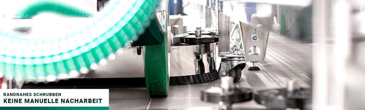 Gmatic Scheuersaugmaschine - randnahes Schrubben - keine manuelle Nacharbeit